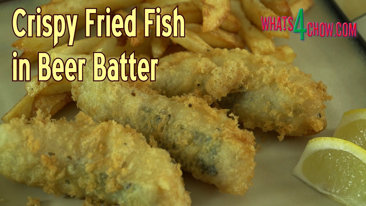 Crispy fried fish in beer batter how to make delicious for How to make fish fry batter