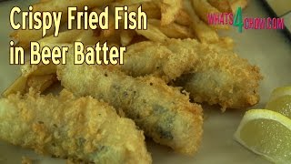 Crispy Fried Fish In Beer Batter. How To Make Delicious Beer Battered Fish.