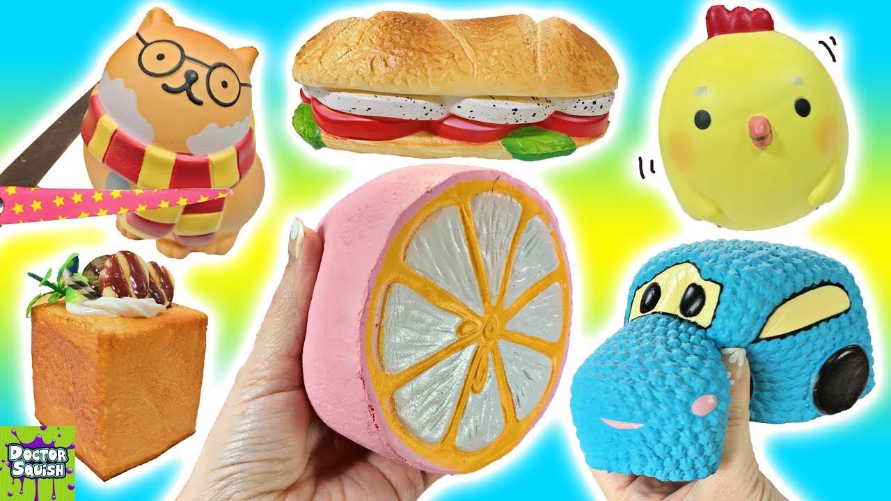 Squishy Toys Cutting : Cutting open Kawaii Squishy Toys! Surprise Toy Inside! ... Doovi