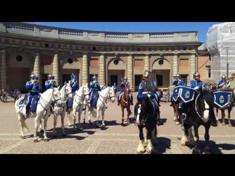 "Swedish Royal Guards perform ""Hooked on a Feeling"" (Ooga-Chaka song)"