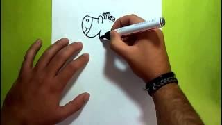 Como dibujar una jirafa paso a paso | How to draw a giraffe