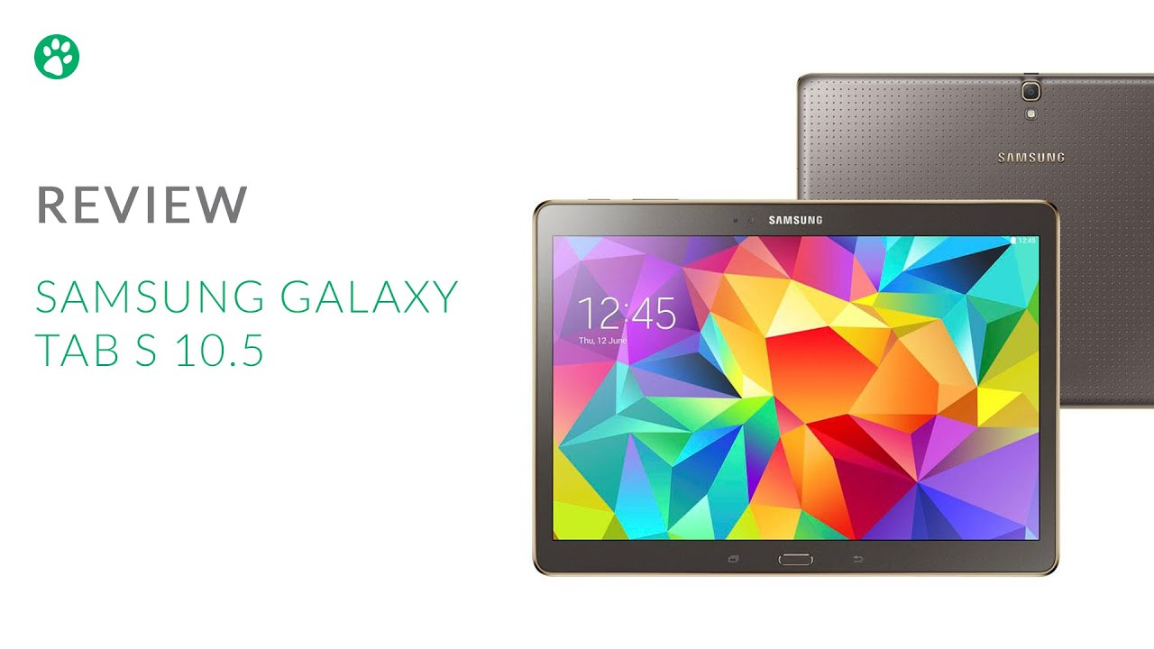 Samsung Galaxy Tab S 10.5 - Review - YouTube