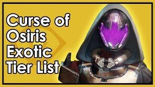 Destiny Curse of Osiris: The Best & Worst Exotic Armor (Tier List Update)