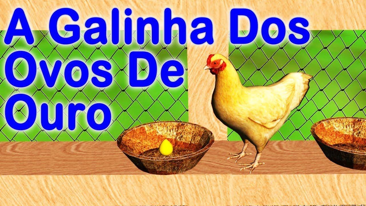 A Galinha Dos Ovo De Ouro Para Colorir a galinha dos ovos de ouro . história infantil . contos infantis