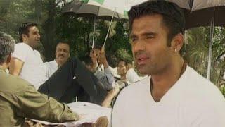Shooting Of Annarth (2002)   Suniel Shetty   Ashutosh Rana   Flashback Video