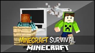 Minecraft Survival Ep.132 -Avião Controlado Por Computador !!