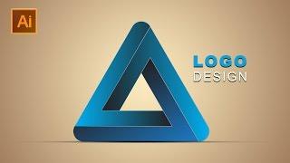 3d Logo Design   Illustrator Photoshop Tutorial   Traingle Hindi / Urdu