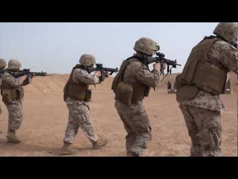 Marines Conduct a Combat Marksmanship Range at Camp Leatherneck in Helmand Province, Afghanistan