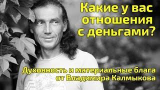 Типы отношений с деньгами. Духовность и деньги. Владимир Калмыков. Слёт сыроедов.