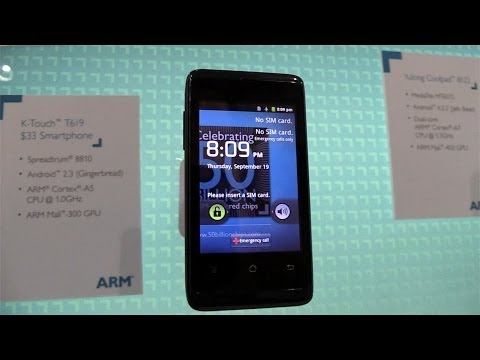 MWC 2014: First Look at the K-Touch T619 $33 Android Smartphone