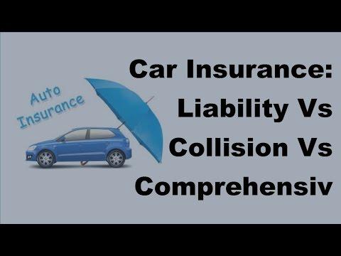 Car Insurance |  Liability Vs Collision Vs Comprehensive Coverage   2017 Motor Insurance Tips
