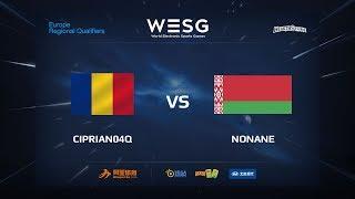 CIPRIAN04Q vs NONAME, Final, WESG 2017 Eastern Europe Qualifier