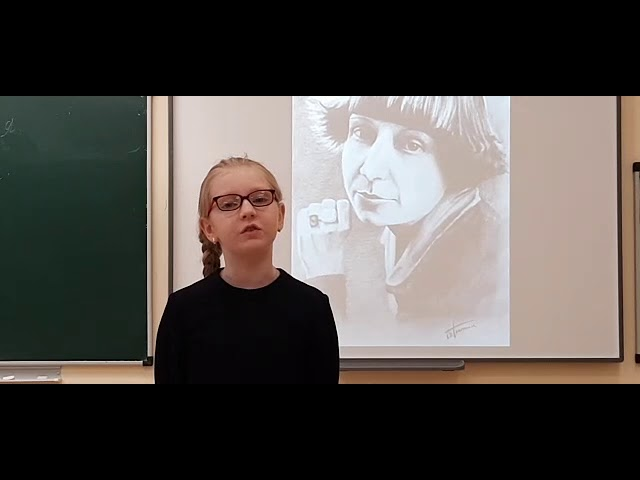 Изображение предпросмотра прочтения – ДарьяВакушина читает произведение «В классе» М.И.Цветаевой