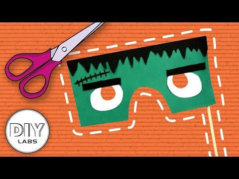 FRANKENSTEIN MASK | Halloween Paper Craft | Fast-n-Easy | DIY Labs