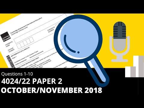 O-Level Math D November 2018 Paper 2 4024/22