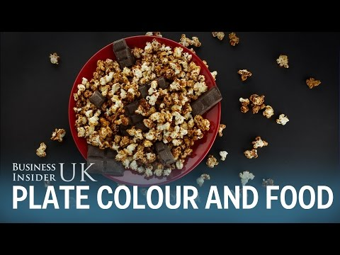 An Oxford University professor explains why the colour of a plate can make you eat less food.