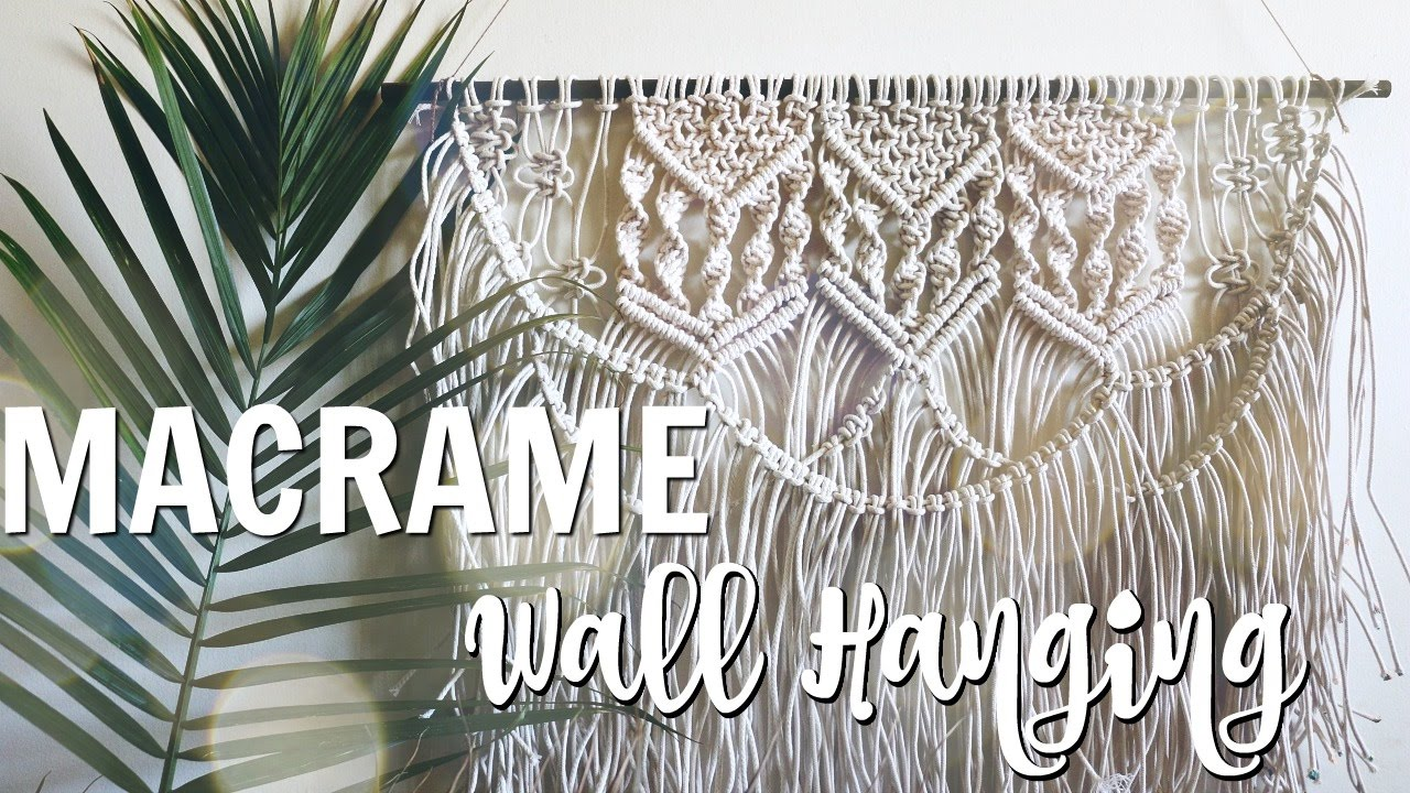 How to diy macrame wall hanging youtube how to diy macrame wall hanging solutioingenieria Images