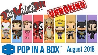 Unboxing Pop in a Box August 2018