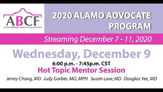 Hot Topic Mentor Session - Wednesday December 9, 2020