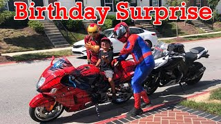 Iron Man \u0026 Spider Man Birthday Surprise - Make A Monday #54