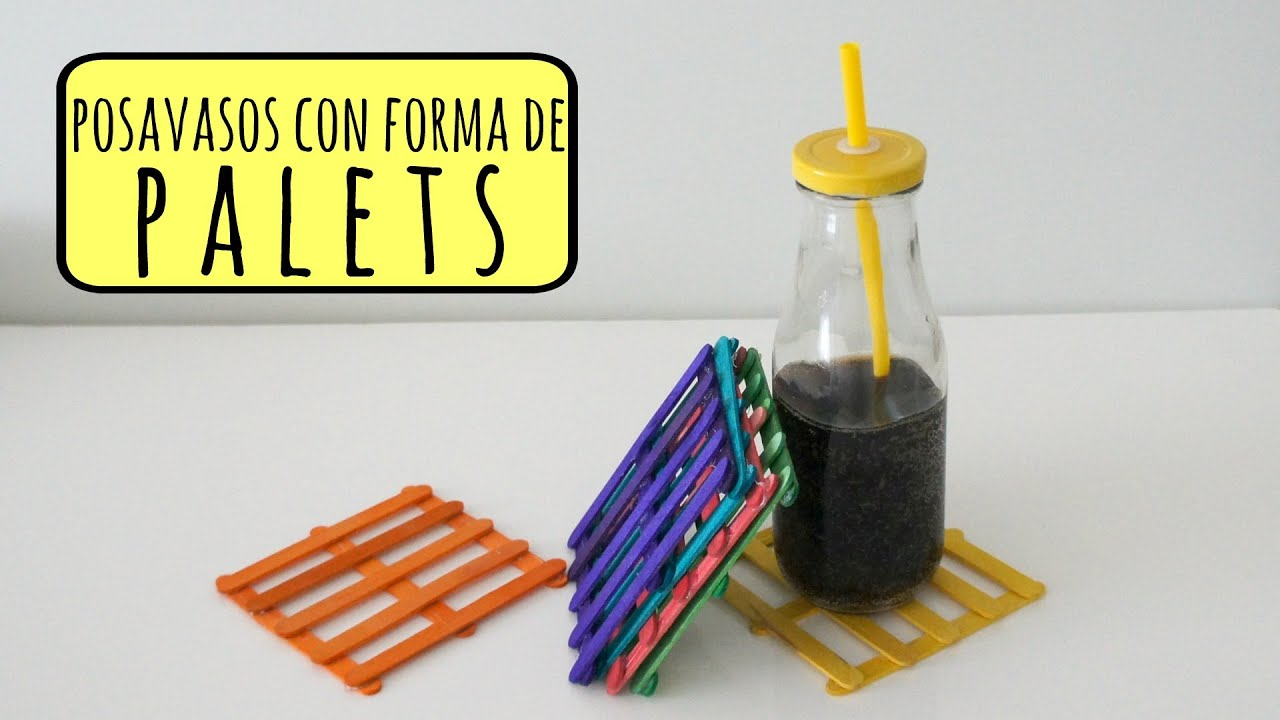 Diy decoraci n tutorial posavasos con palos de polo reciclar youtube - Tutoriales de decoracion ...