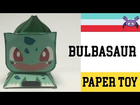 How To Make A Pokemon Bulbasaur Paper Toy Papercraft Free