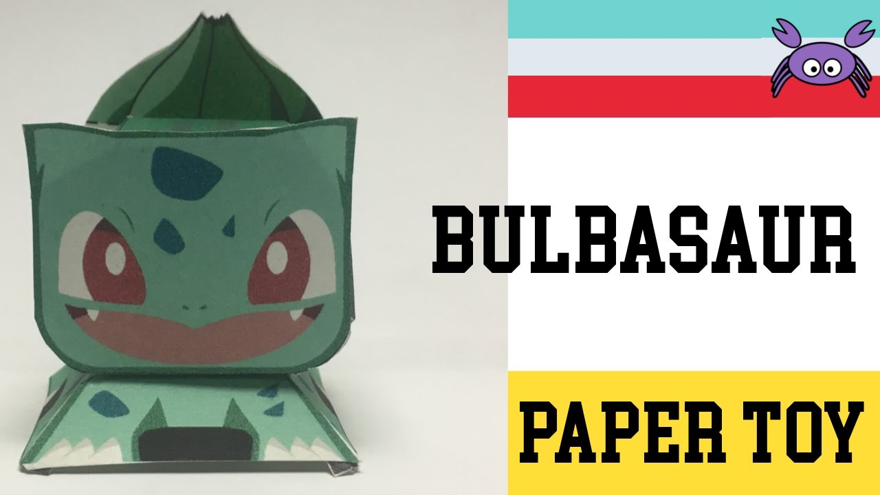 How To Make A Pokemon Bulbasaur Paper Toy Papercraft Free Template By Becks Junkie