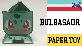 How to Make a Pokemon Bulbasaur Paper Toy ( Papercraft ) (free template) by Becks Junkie