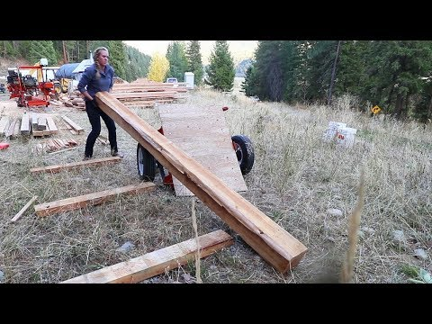 OUT OF LOGS! (Making Timber Frame Workshop Staging Area)