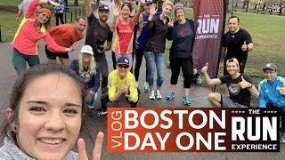Boston Marathon Vlog   Day 1 - Athletes, run-ins, & crazy interviews!