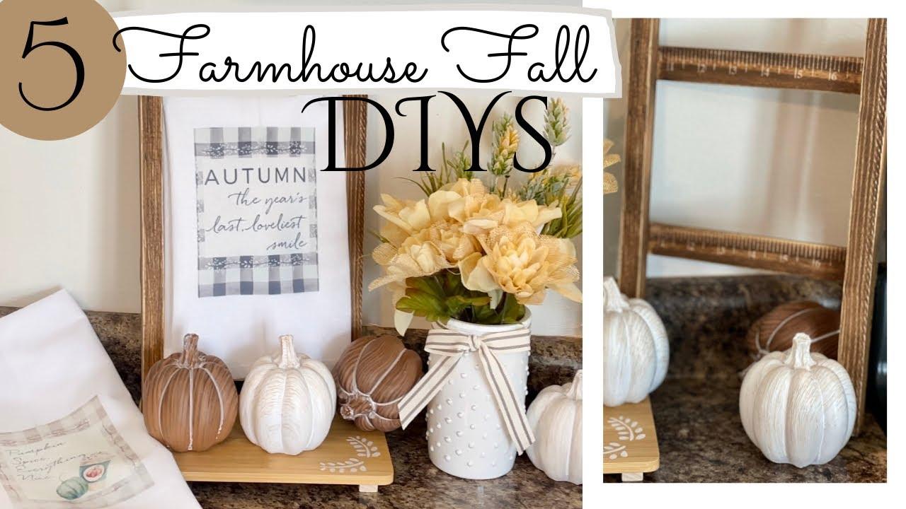 20 Farmhouse Fall DIYs Fall Home Decor
