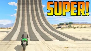 mega rampa salto increble gameplay gta 5 online funny moments