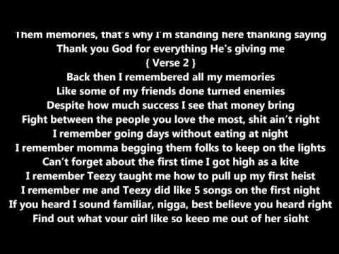 Rich Homie Quan   Memories Lyrics