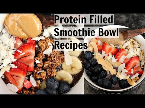 How to Make BOMB SMOOTHIE BOWLS (high protein, vegan)