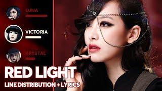 f(x) - Red Light (Line Distribution + Color Coded Lyrics) PA…