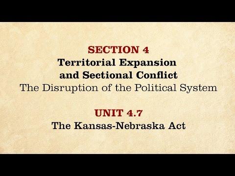 MOOC | The Kansas-Nebraska Act | The Civil War and Reconstruction, 1850-1861 | 1.4.7