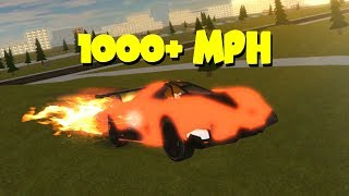 ROCKET CAR IN ROBLOX VEHICLE SIMULATOR! *INSANE SPEED*