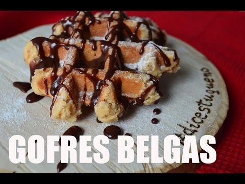 GOFRES BELGAS, LOS AUTÉNTICOS, RECETA GRABADA CON UNA GOPRO