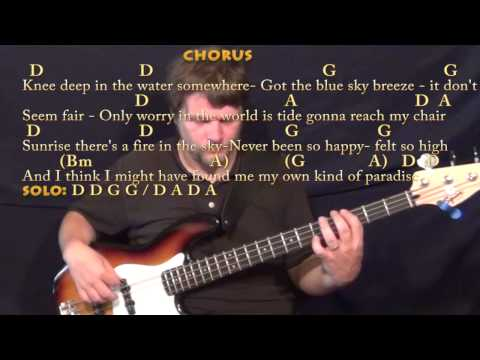 Knee Deep (Zac Brown) Bass Guitar Cover Lesson in D with Chords ...