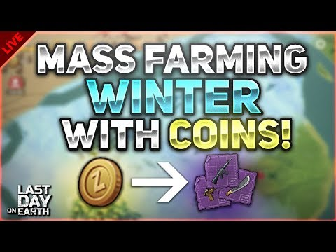 MASS FARMING WINTER ZONES FOR BLUEPRINTS WITH COINS! - Last Day on Earth: Survival LIVESTREAM