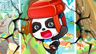 Baby Panda Earthquake Safety Tips 2 | Children Learn About Earthquake Shelter - Animated Kids Game