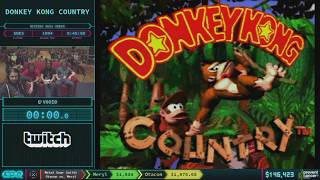 Donkey Kong Country by V0oid in 46:11 AGDQ 2018