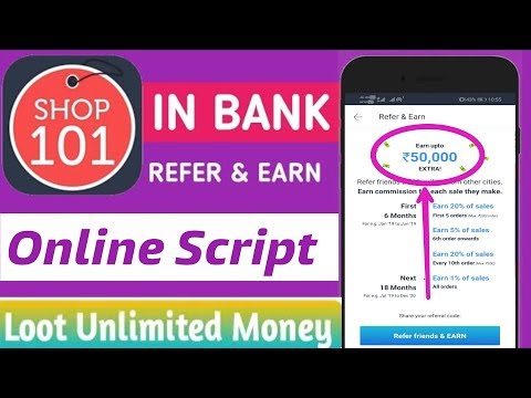 Shop101 Refer & Earn Online Script ! Unlimited Refer  ! Pay In Bank Account