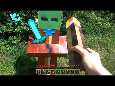 Realistic Minecraft in Real Life Zombie Villager vs Torch ...