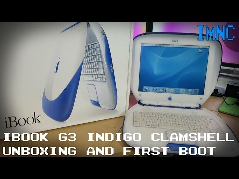 Clamshell iBook G3 Indigo Unboxing & First Boot | IMNC