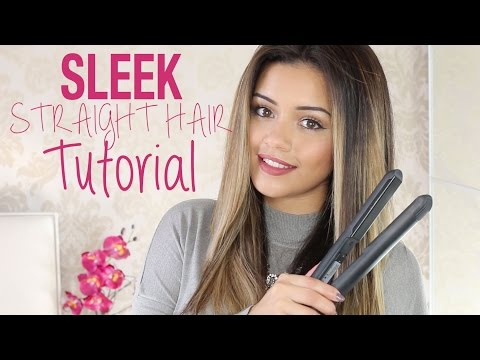 Tutorial | Sleek Straight Hair Tutorial + Mini Haircare Routine | Kaushal Beauty