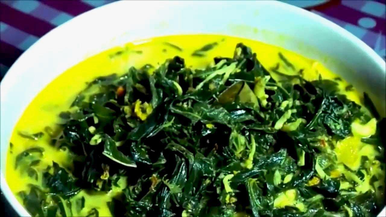Oblok Oblok Daun Singkong Indonesian Village Food Youtube