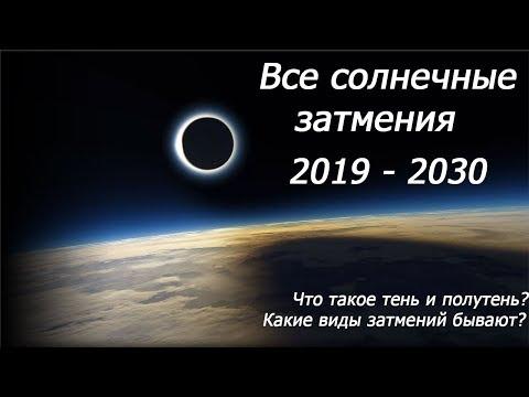 ВСЕ СОЛНЕЧНЫЕ ЗАТМЕНИЯ С 2019 ПО 2030 ГОД