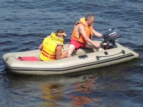 Лодка HDX-380+ мотор Yamaha 5 л.с. - YouTube