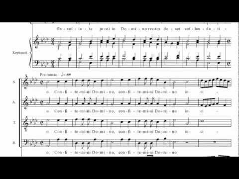 Exultate justi in Domino, Ludovico Grossi da Viadana, Cantoria Sine Nomine di Castelnuovo (TN)